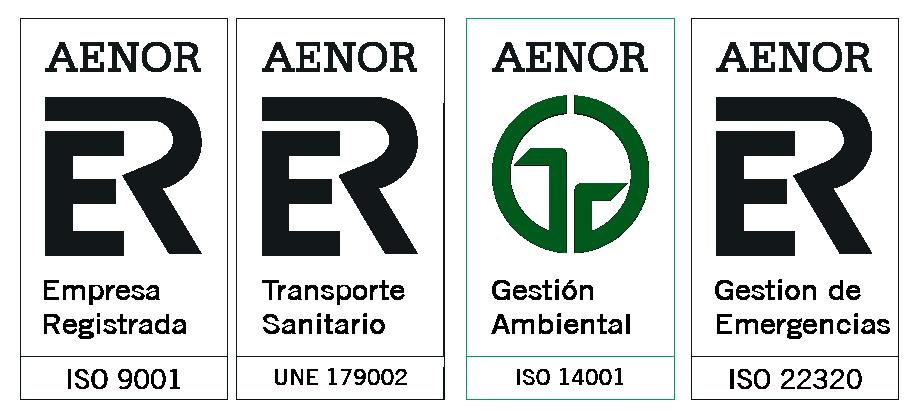 Sellos Certificados AENOR Ambulancias CSA